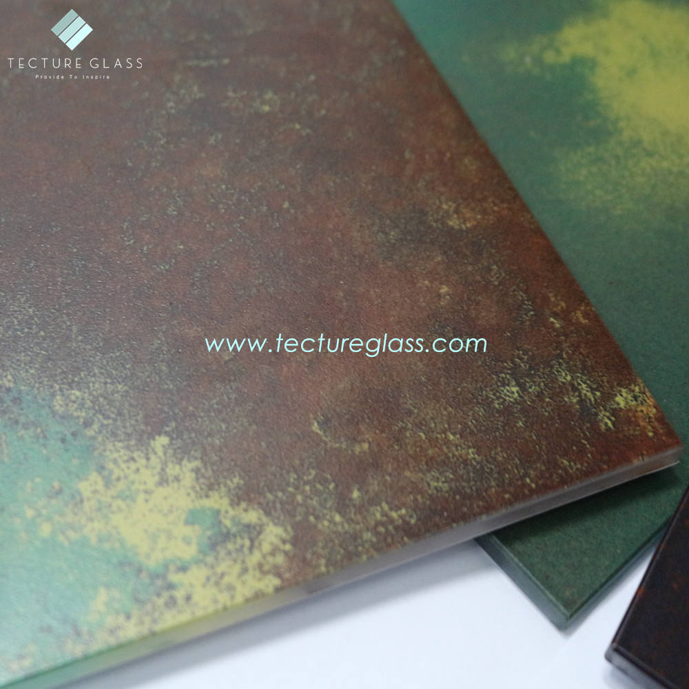 Tecture Monolithic Digital printed (gorilla glass) 와 post modern visual effects 및 antique look