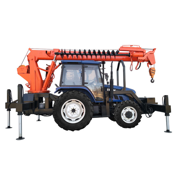 Professional construction machinery Auger Drilling Rig for Power Pole Auger Crane / Pile Drive