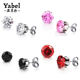 Wholesale Stainless Steel Round Clear Cubic Zirconia Stud Earrings Women