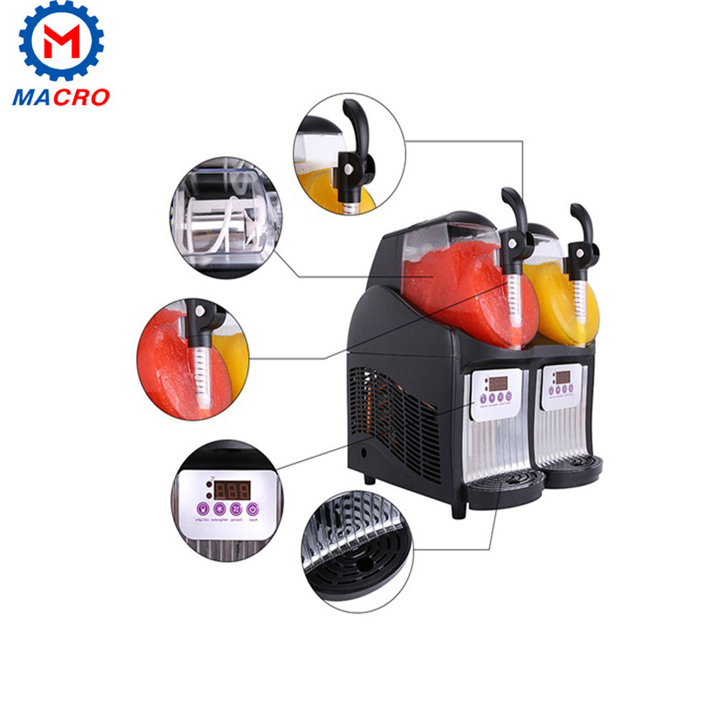 Easy Operation Snow Ice Machine/slush Machine With Handle/2 Bowl 30l Slush Making Machine