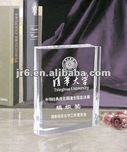 Оптовая продажа кристалл пустой премии и кристалл бизнес трофеи