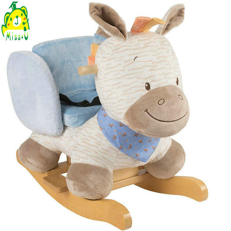 Plush/Timber Rocking Zebra Rocker Chair Toy Ride-on for Toddler Child Kids