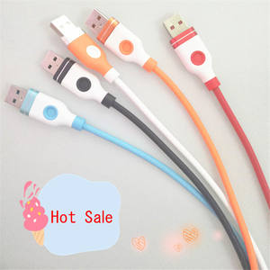 Wholesales D1 usb cable aluminum alloy 2A data cable usb charging cable for V8/iPhone/Type C