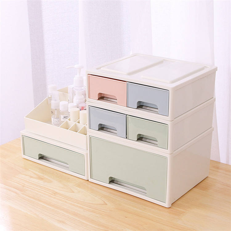 Factory Price Plastic Cosmetic Storage Box Organizer with drawers for cosmetic