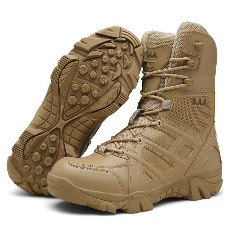 Outdoor Shoes Tactical Equipment Travel Slip Resistant Military Combat Boots For Man
