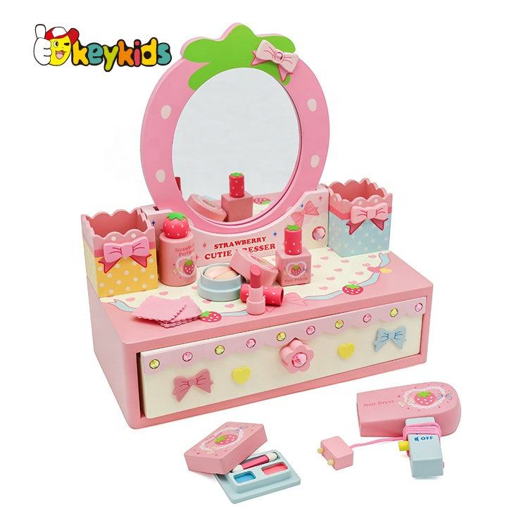 2019 New kids pretend play wooden toy makeup set for wholesale W10D214
