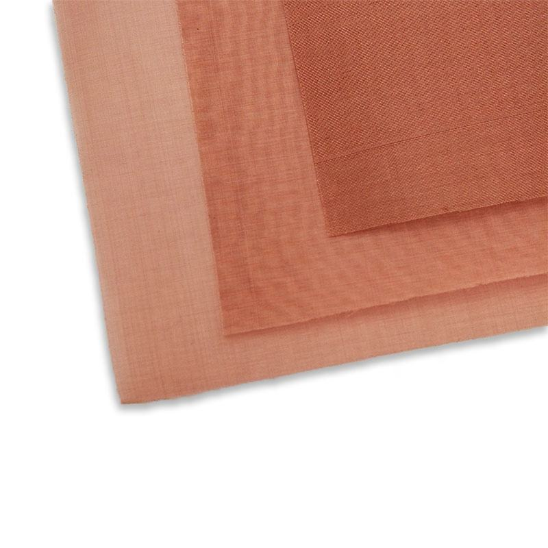 electrical conductivity 160 mesh red copper metal fabric