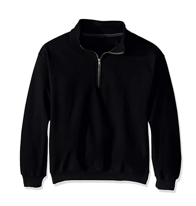 Herren Casual Baumwolle Crew Neck Fleece 1/4 Zip Klassische Sweatshirts