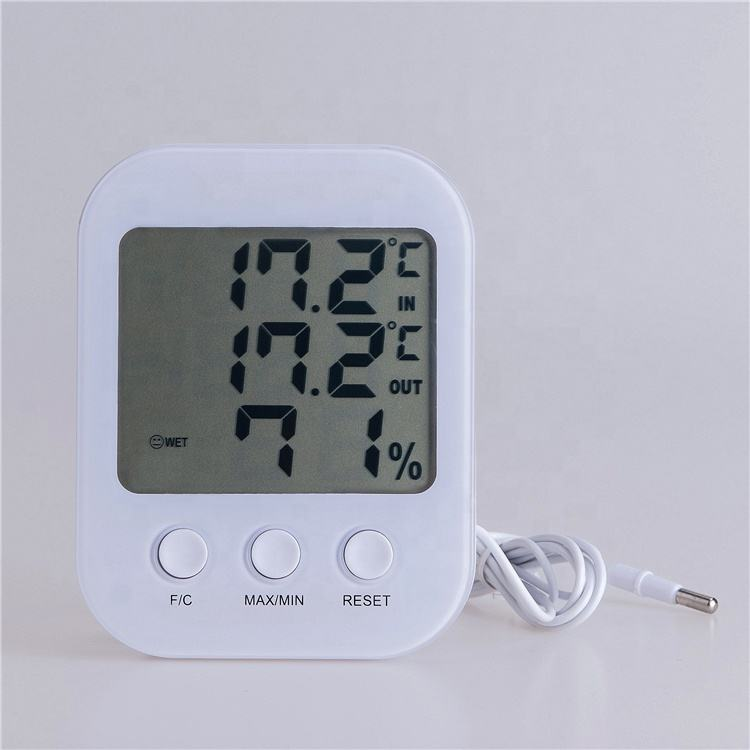 Alta precisione outdoor/indoor igrometro termometro digitale clock