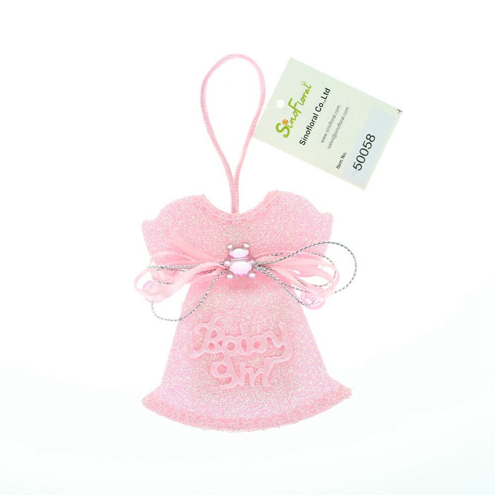 Bomboniere party anniversary baby shower favors gift bags handbags pink glitter dress with acrylic bear sliver bow#50058