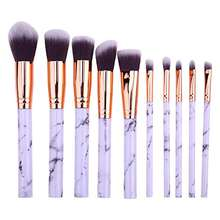 The high quality 10pcs  Marbelize  makeup brush set