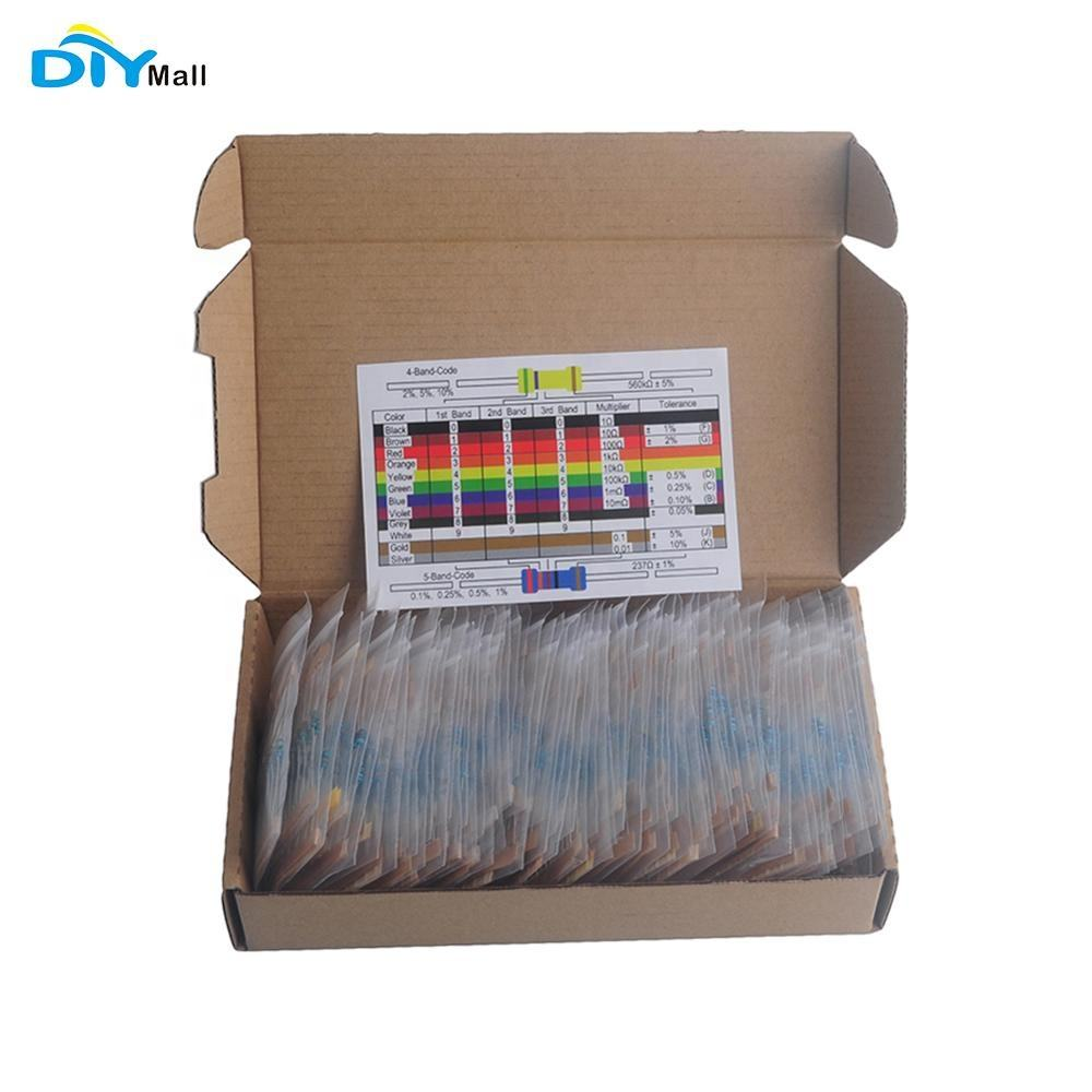Assortment Metal Film Resistor Labelled 73 Value Accessory Set 1460Pcs Durable