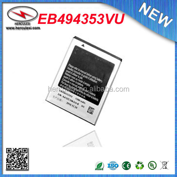Original EB494353VU 1200mAh Battery For Samsung EB494353VU Battery Galaxy Mini Galaxy 551 S5570 S5250 S5330