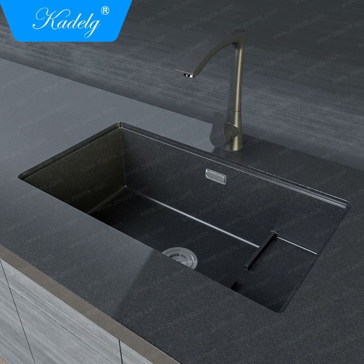 Undermount Fancy Black Kitchen Granite Sink
