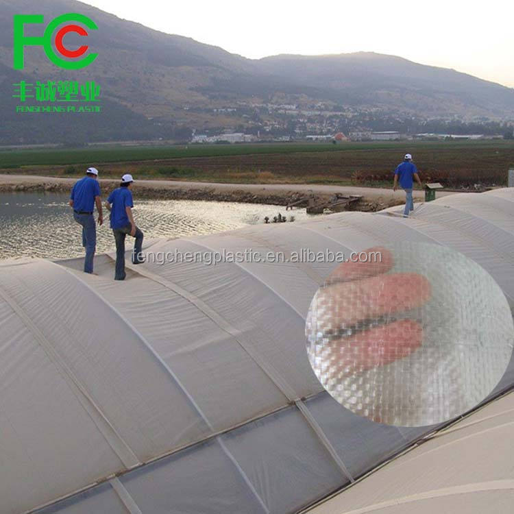 UV stabilized agricultural greenhouse polyethylene strong Polyweave fabric film /transparent woven greenhouse film