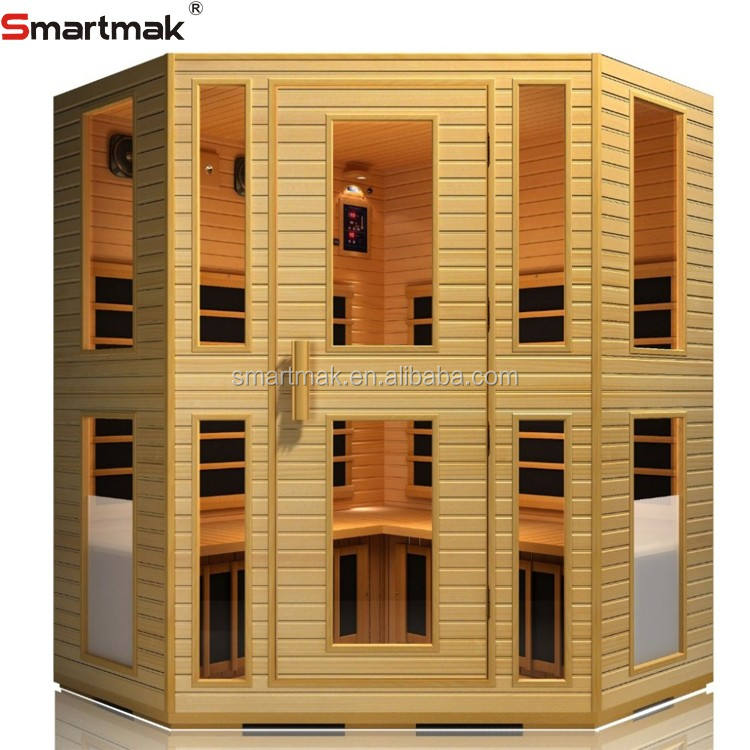 Luxury far infrared 6 person sauna for sale carbon heater SMT-042