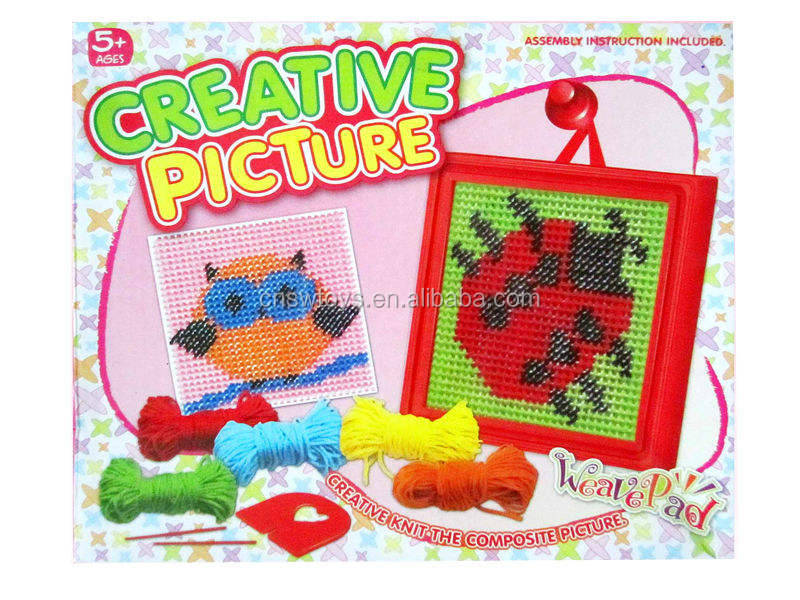 Art and craft Easy knitting toy creative picture JS2705989