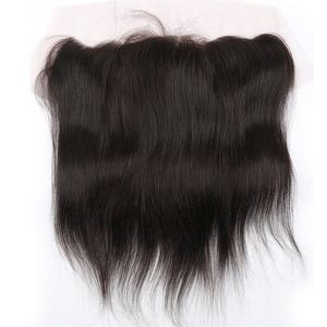 Virgin Indian Hair Straight Stijl 13*6 kant frontale Stukken Met Bundel