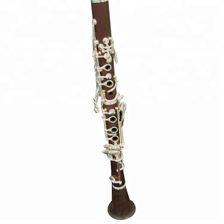 Professional Bb 18 คีย์เงิน rosewood clarinet