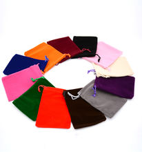 Wholesale Black velvet Cloth jewelry pouches Drawstring Bags Gift Present Package Mix Color Fit For Necklace Bracelet Earring