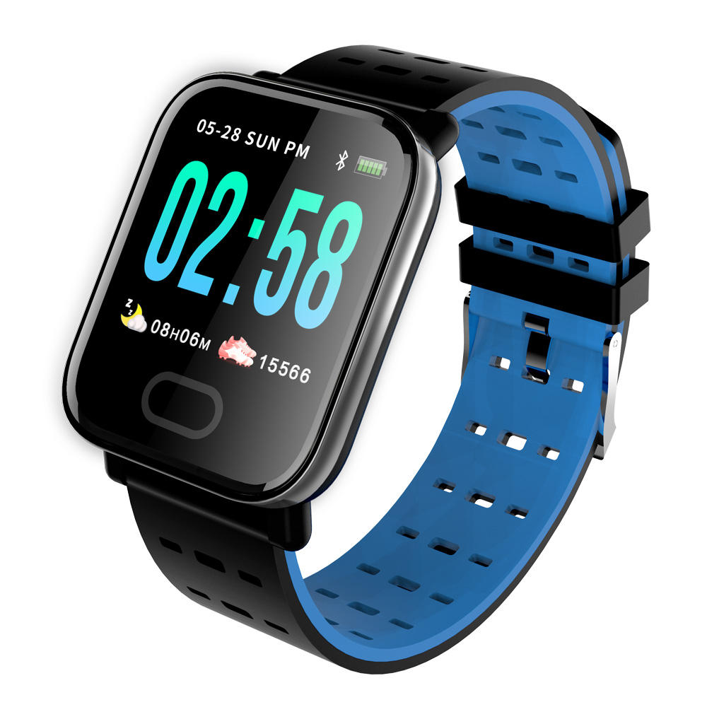 A6 heart rate blood pressure monitor sports m20 smart watch bracelet