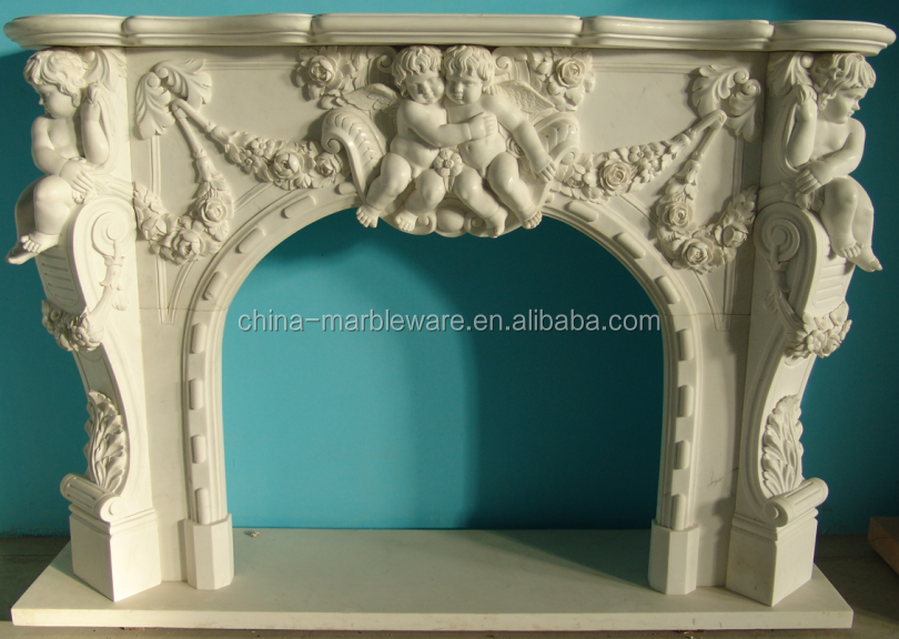Decoration Marble Carving Gas Fire Place
