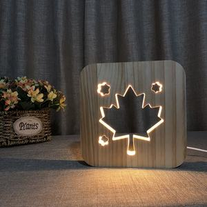 The maple 잎 design 나무 밤 lamp 혁신적인 생일 gifts idea product