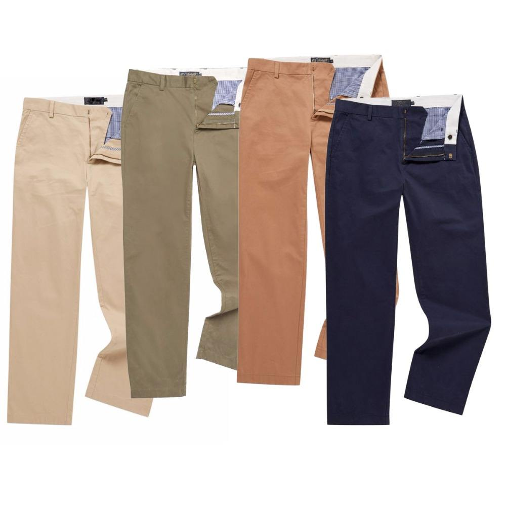 wholesale Chinos & Twill casual trousers pants relaxed fitted men chino pants