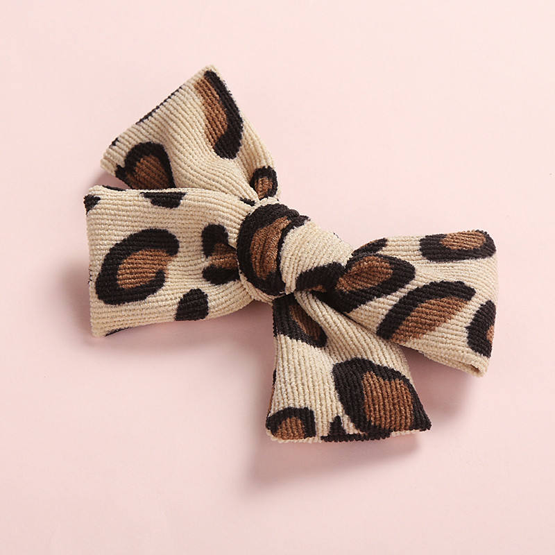 Summer Autumn Leopard Animal Prints Bows Hair Barrettes 5.5cm Alligator Hair Clips For Girls Photogrops Shower Gifts