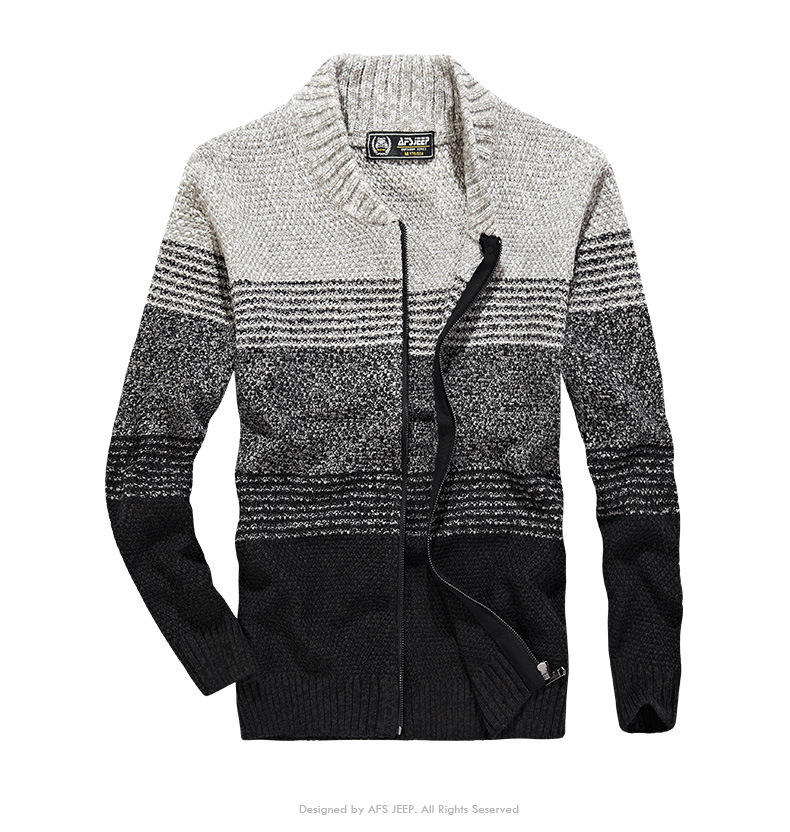 fashion autumn acrylic cardigan knitted sweater for men