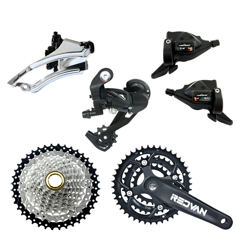MTB bike 9speed derailleur group front derailleur+rear derailleur complete bicycle groupset