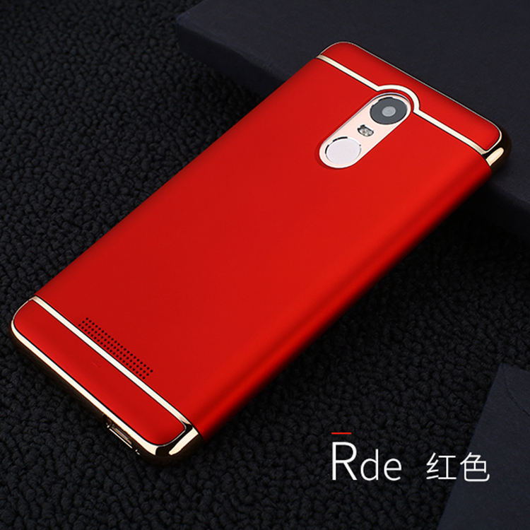 Luxury plating pc bumper frosted phone cover for redmi note 4 hard case,for redmi note 4back cover