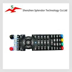 Top quality durable OEM painting silicone rubber keypads for TV