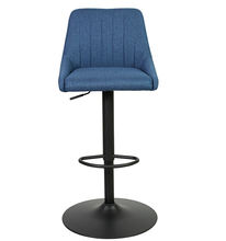 DM Fabric upholstery chair inside Powder coated gas lift with 160mm stroke Swivel Adjustable Height Bar Stool