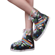 2017 Beautiful ladies fashion shoes Waterproof rain rubber shoe cover