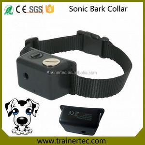 Impermeable No corteza collar con correa Ajustable y Sonic perro collar de la corteza