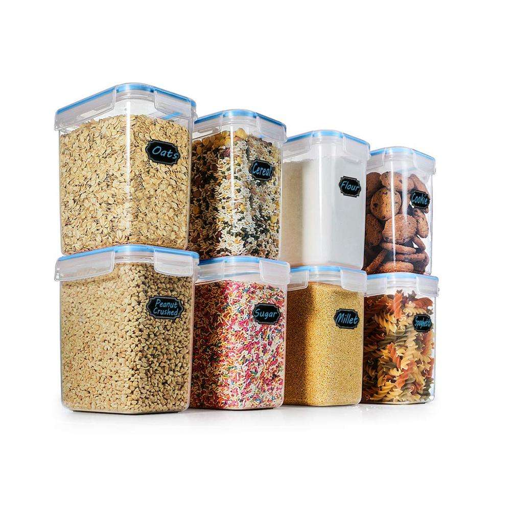 1.6L Plastic Cereal Kitchen Food Container Box Airtight Watertight Dry Food Storage Containers