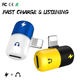 Factory price portable 2in1 charging and listening silicone adapter support 11.3 system for iphone 5/6