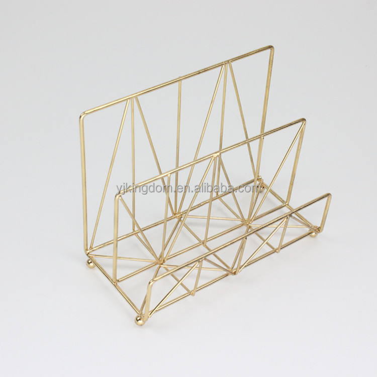 oem 550-25 office organizer gold metal wire desktop letter sorter holder