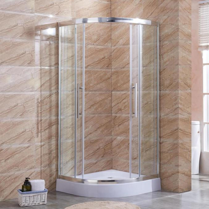 Bathroom Shower Cubical room with Sliding Glass Door