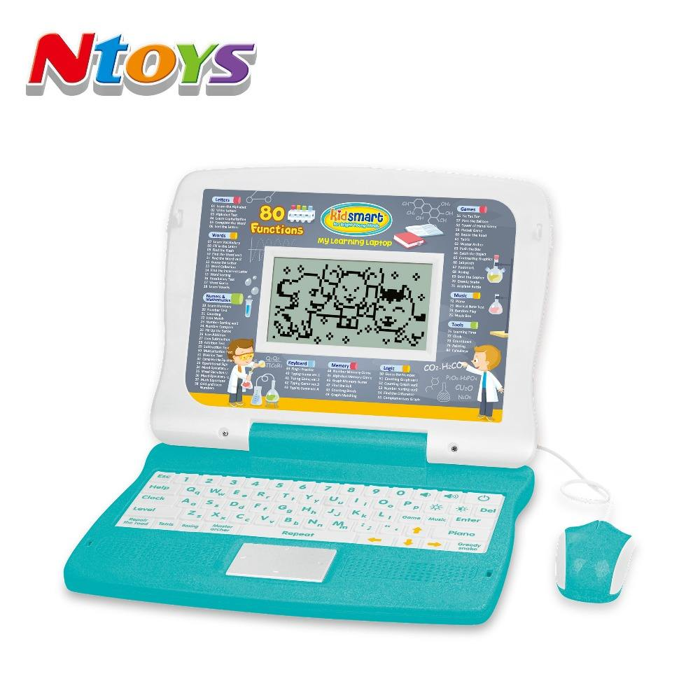 80 Functions LCD Screen Learning Laptop Computer With 2000 Point