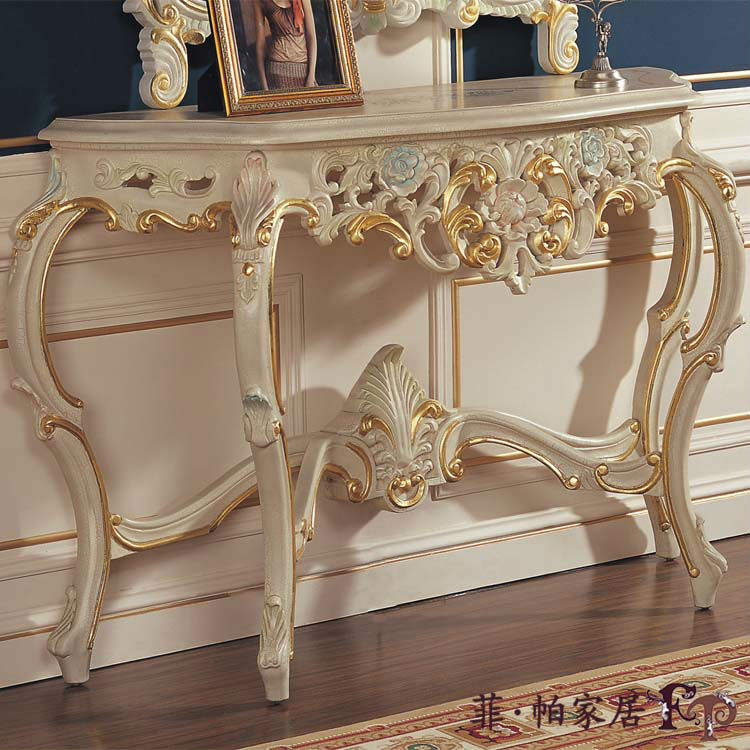 italian luxury console table antique wooden living room furniture