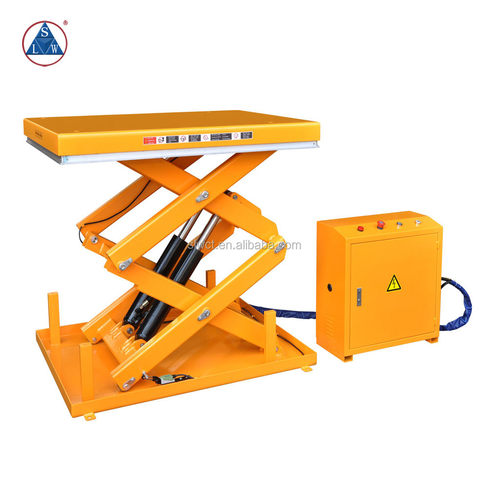 1000kg Electric Hydraulic Powered In Floor Scissor Lift