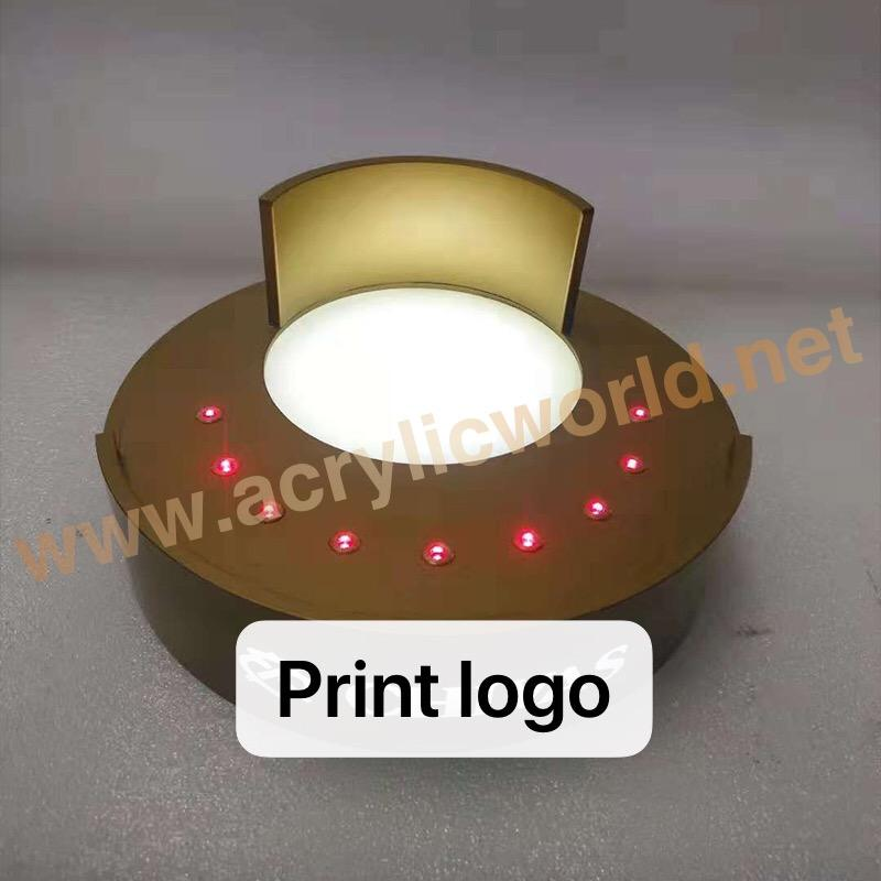 Mode acryl led wijn display stand acryl wijnfles display