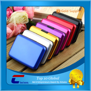 High Secure Metal Credit Card ID Card Holder RFID Aluminum Wallet RFID Blocking Case