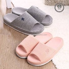High quality comfortable cotton soft bedroom slippers