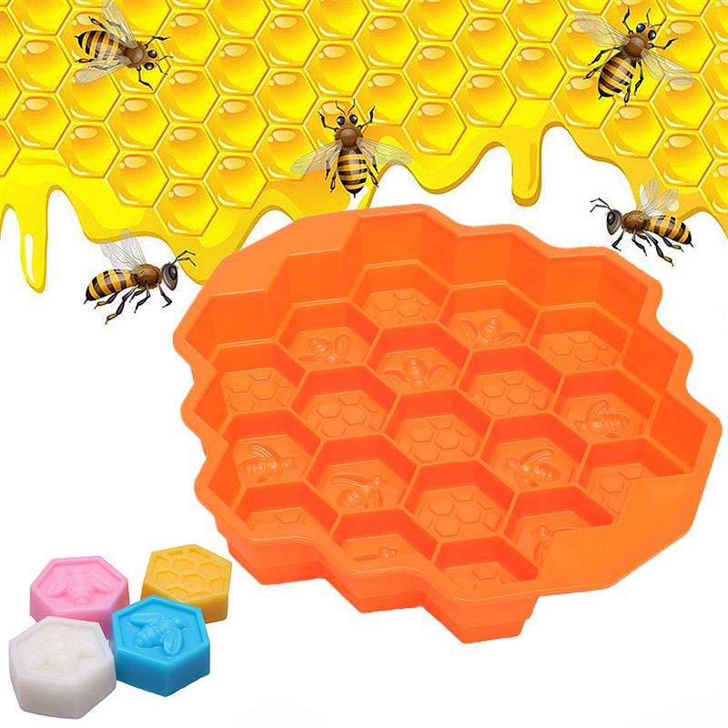 Hot Sales Honeycomb Shape Silicone Chocolate / Soap / Cake / Ice Cube Tray Mold