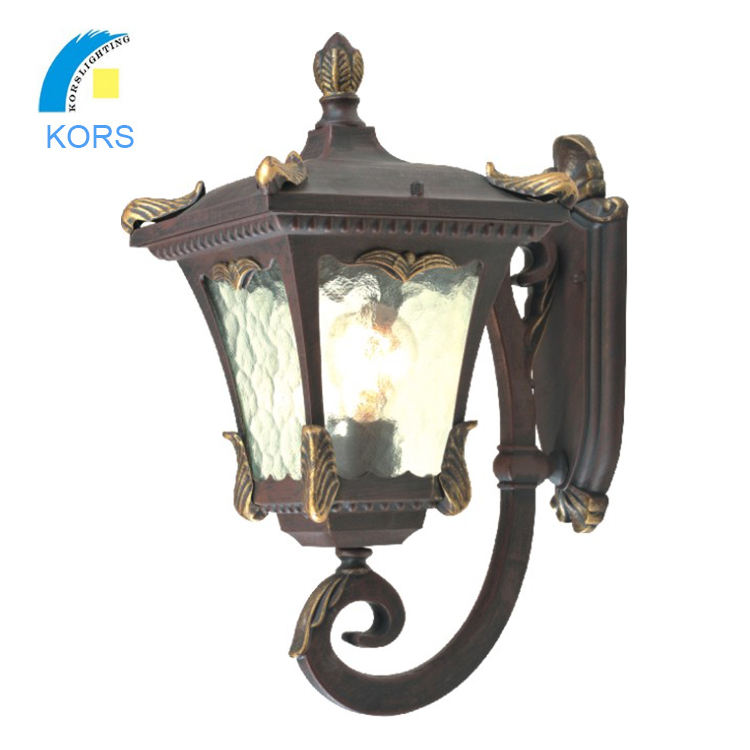 classical decorative outdoor wall lamp lantern garden wall bracket light fitting