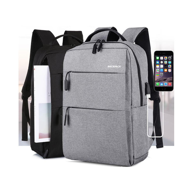 High Quality 600D Backpack Laptop Business Men Backpack with Big Compartment