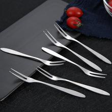 Wholesale Stainless Steel 18/8 Flatware Cake Pizza Fruit Forks hight quality